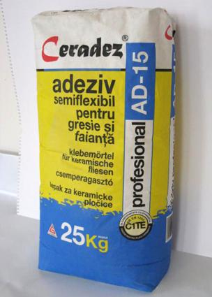Adezivi pentru placari C1 - CERADEZ